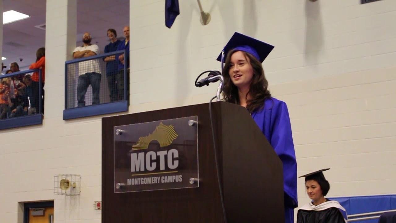 Rowan Graduation 2020.Mctc Montgomery And Rowan Campus Graduation 2019 Student Speaker