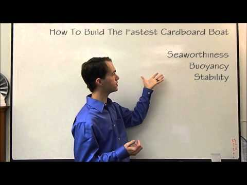 How to Build the Fastest Cardboard Boat - Part 1: Buoyancy    Mikes Inventions