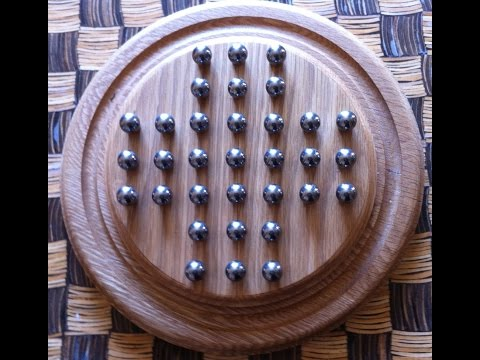 How to solve Peg Solitaire, an easily remembered solution to solve the puzzle in stages