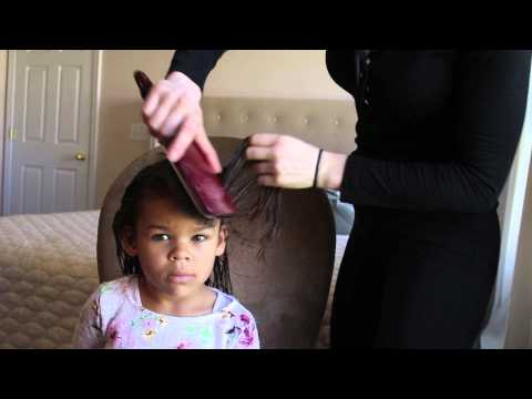 little girl curly mixed hair tutorial spring 2015 youtube