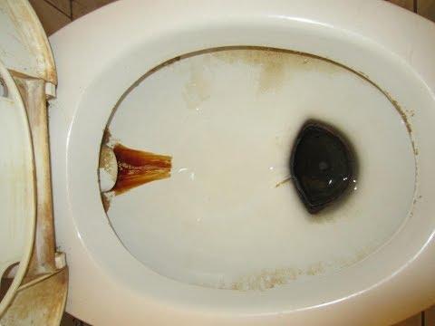 ★Как избавиться от ржавчины в унитазе. Эффективный способ оттереть ванную от налета и желтых пятен.