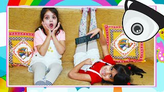 Kids Caught on CCTV Cleaning the Playhouse Ashu and Cutie | Katy Cutie Show
