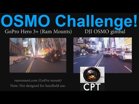 OSMO Vs GoPro Stabilize Test Handheld Compared To Gimbal