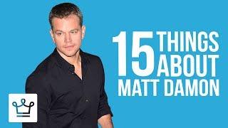 Matt Damon Lesser Known Facts