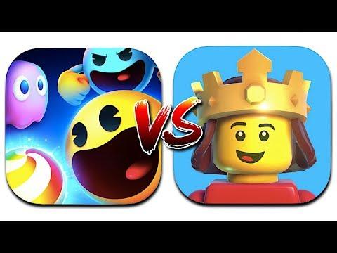 PAC-MAN Party Royale Vs LEGO Brawls - Apple Arcade