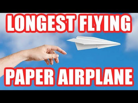 How to Make the BEST FLYING Paper Airplane That Goes Really FAR – EASY TUTORIAL!