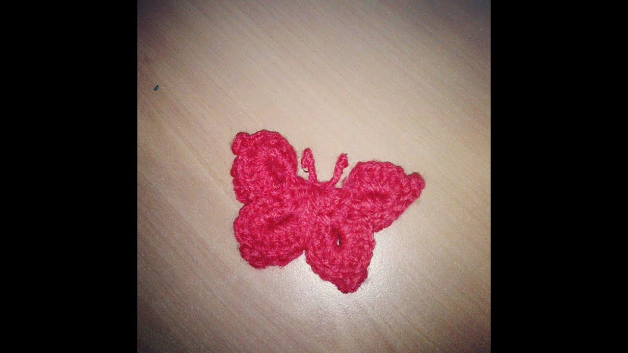 Farfalla all 39 uncinetto butterfly crochet youtube for Youtube bordure all uncinetto