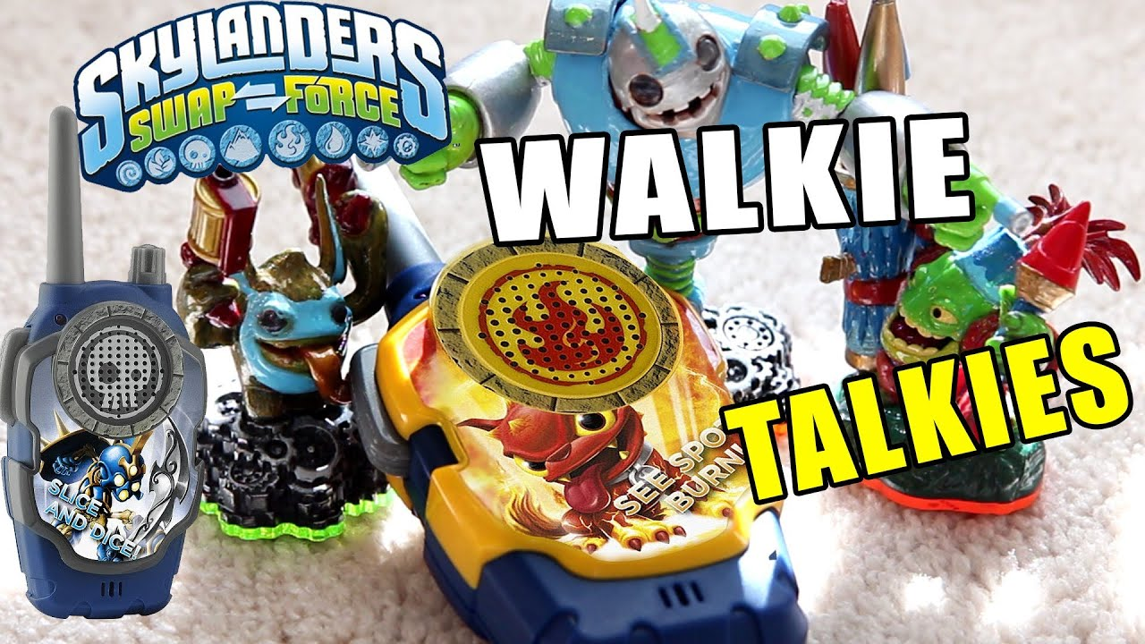 Skylanders Walkie Talkie Set Outside Unbox & Testing Fun Swap