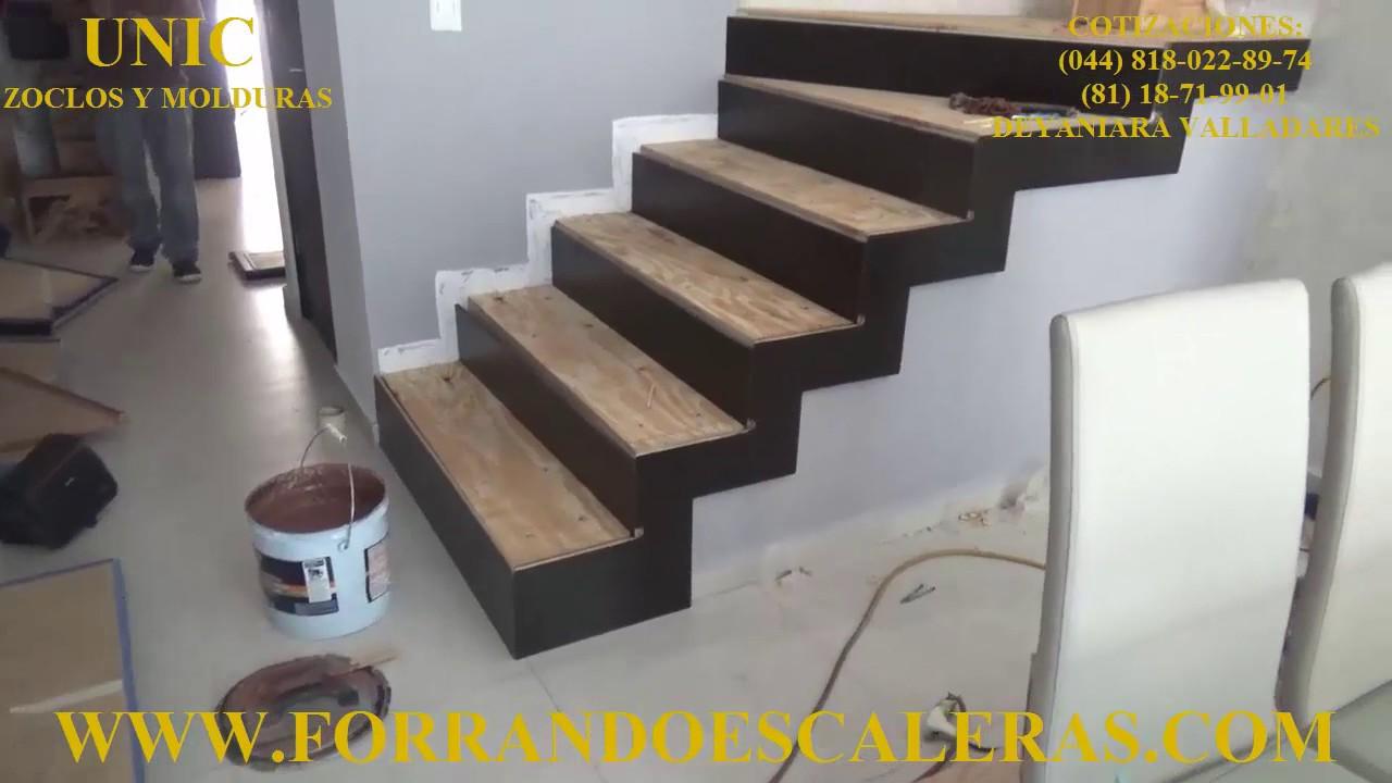 Madera de encino en color chocolate para revestimiento de - Peldanos escalera imitacion madera ...