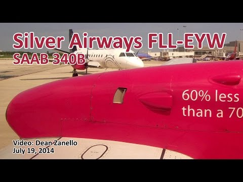 Silver Airways Saab 340B Fort Lauderdale - Key West (FLL-EYW) (7/2014)