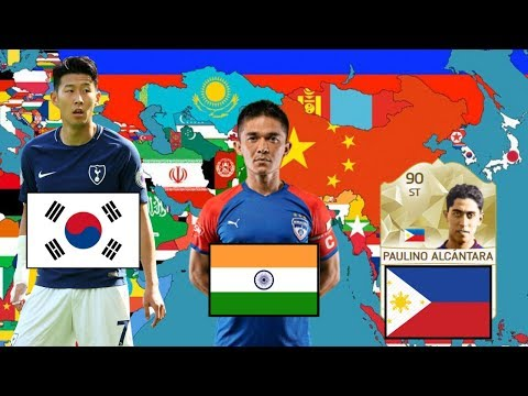 Best Footballer EVER From EVERY Country In Asia