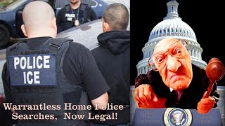 Warrantless Home Police Searches Now Legal: Pres. Trump Signs Law!