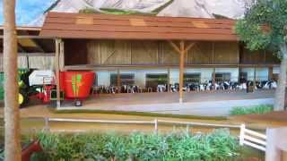 MODEL FARM DIORAMA - Animals,buildings & model farm machinery