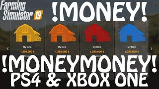 EASY MONEY CHEAT on PS4 & XBOX ONE in Farming Simulator 2019 | 100 MILLION in 10 MINUTES | LS19