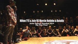Juste Debout Sweden 2014: Hip Hop Final - Marcio Ratinho & Batalla Vs. Nilton TYZ & JoJo