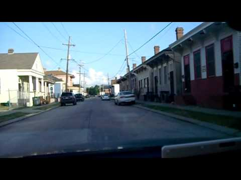 New Orleans, I-10, Hwy 90, First Street to Carondelet, guided by Eee PC 900HD, 05-25-2011