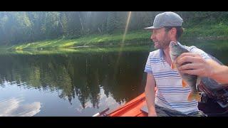 Рыбалка на реке Чусовая Окунь Щука Голавль Уха из речной рыбы