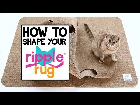 How to Shape The Ripple Rug - YouTube