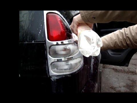 Чистка хрома зубной пастой на  Land Cruiser Prado за 10 минут 1 часть