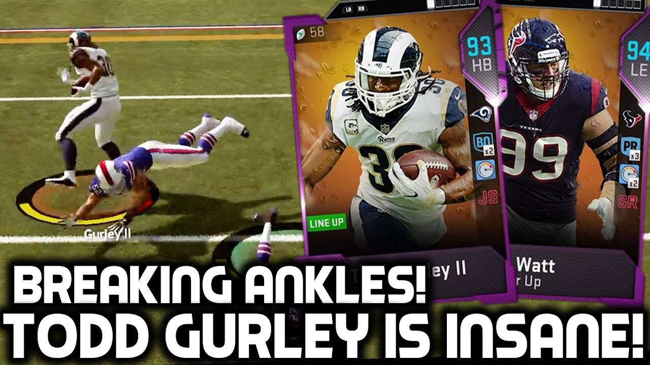 Todd Gurley Breaks Players Ankles Madden 19 Ultimate Team Youtube