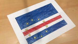 Cape Verdean Flag Drawing 🇨🇻 (Cabo Verde)