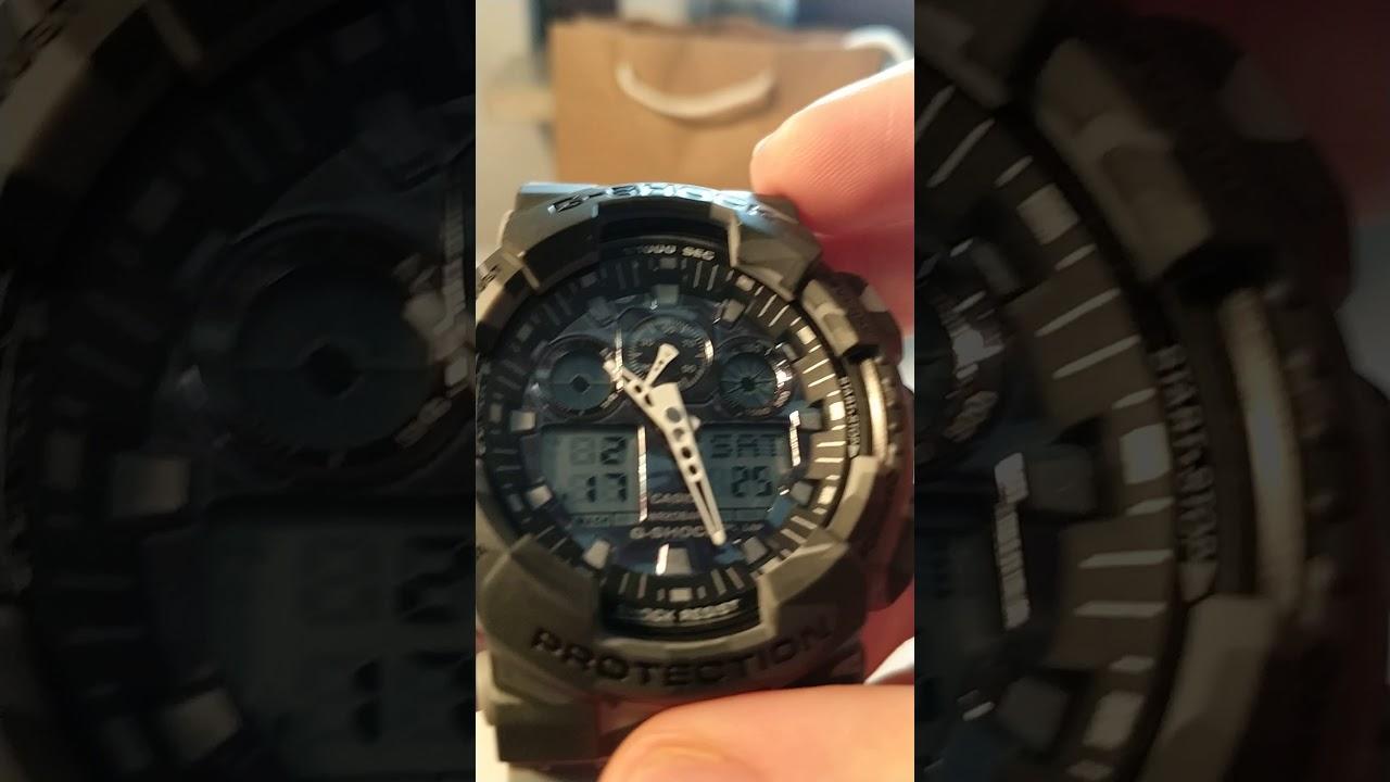 bab8e2fb81b09 Casio G-Shock GA-100CM-8A prawie idealna podróbka - YouTube