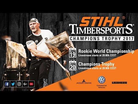 Full show Part 1 // STIHL TIMBERSPORTS Rookie World Championship 2017 // Hamburg, Germany