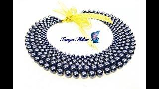 Воротник из Бусин Мастер Класс/ Колье из Бусин Своими Руками/Beebeecraft/ Necklace of beads!