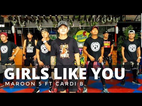 GIRLS LIKE YOU By Maroon 5 Ft Cardi B | Zumba® | Bachata | Pre Cool Down | Kramer Pastrana