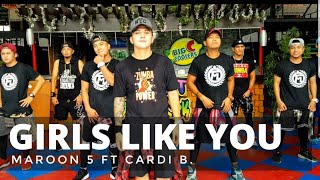 Download GIRLS LIKE YOU by Maroon 5 ft Cardi B | Zumba® | Bachata | Pre Cool Down | Kramer Pastrana Mp3