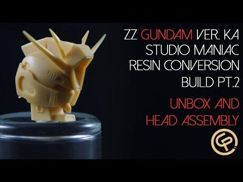 ZZ Gundam maniac Studio Resin Conversion Part 2 Unbox and Head Assembly
