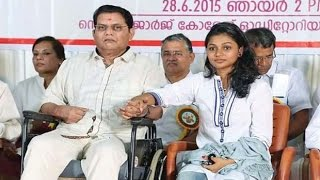 Jagathy Sreekumar kissed on stage by daughter