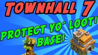 Clash of Clans:  Townhall 7 Farming Base!