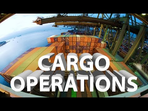Cargo Operations on Container Ship  |  How are Containers Loaded?