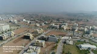 Drone HD Video Bahria Enclave Islamabad 2018 Sector A B B1 C