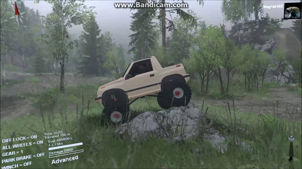 Spintires Lets Beat the Snot Out of a Suzuki Sidekick - YouTube