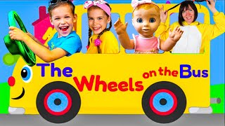 Wheels On The Bus Song   AmyMe