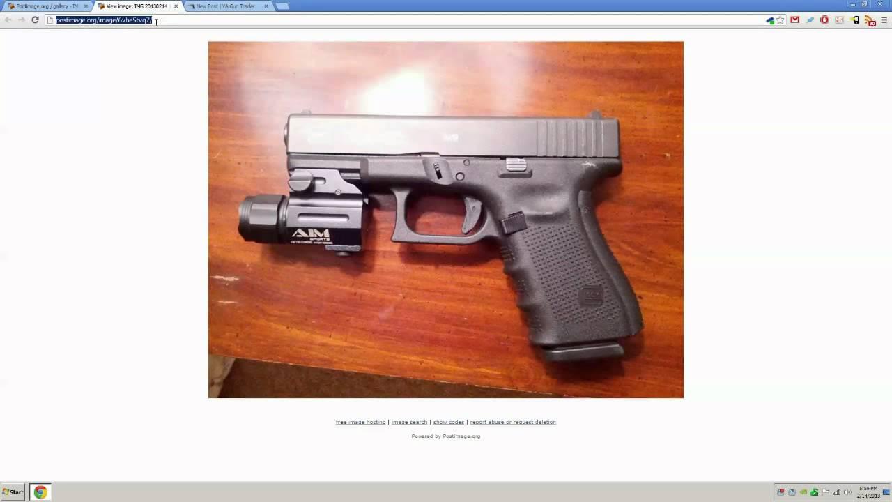 Upload photos to your post on VA Gun Trader