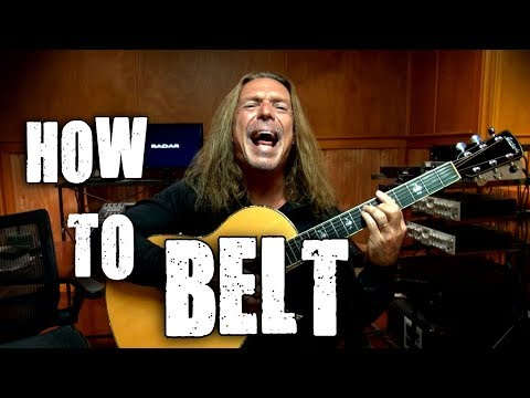 How To Belt - Belting Techniques - Voice Tutorial - Ken Tamplin Vocal Academy