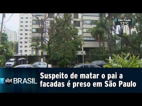 Suspeito de matar o pai a facadas em apartamento de luxo é preso em SP | SBT Brasil (06/08/18)