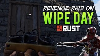 REVENGE SATCHEL RAID ON WIPE DAY! - Rust SOLO Survival! (Rust Let's Play)