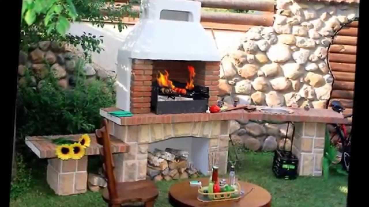 Барбекю на даче стационарные из кирпича видео барбекю из камня на дачный участок фото