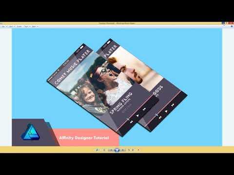 Affinity Designer Beginner Tutorial: Music App UI