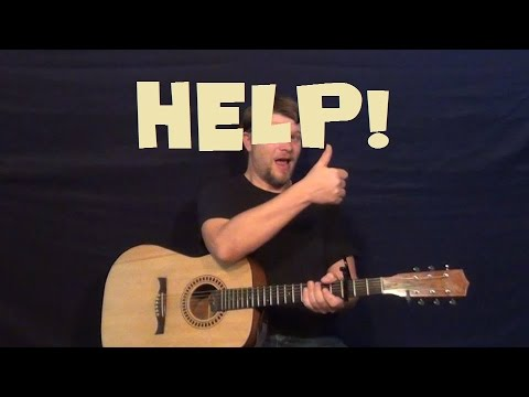 Help! (The Beatles) Easy Strum Guitar Lesson - Chords How to Play Tutorial