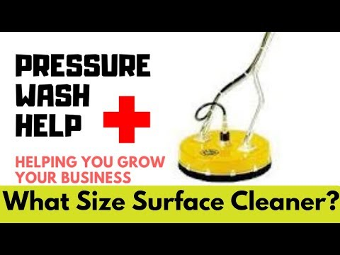 What Size Surface Cleaner Can I Run With My Pressure Washer?