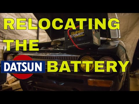 Datsun 521 Pickup: Relocating The Battery To The Bed.