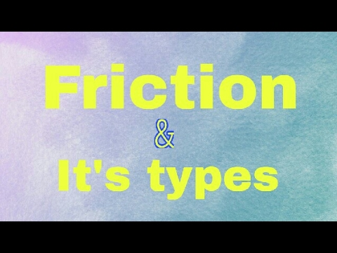 friction అంటే ఏమిటి ? and it's types in Telugu