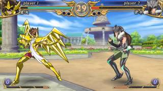 Saint Seiya Omega Ultimate Cosmos Cloth Sagitarius PSP Gameplay