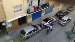 Пьяный дебош цыган в Испании.