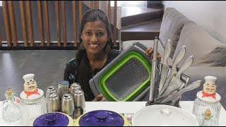 கிட்சன் பொருட்கள் shopping haul/Huge shopping haul omega glassware products